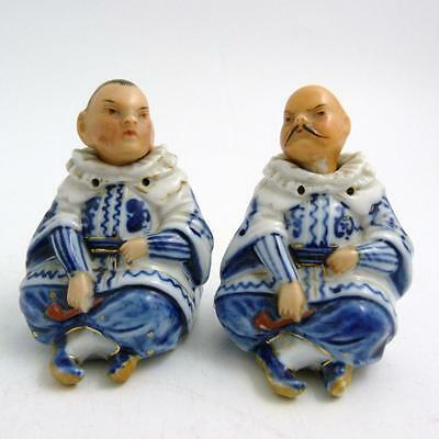 Pair Of Continental Porcelain Nodding Figures, 19Th Century