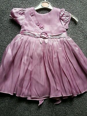 Ladybird  Baby  Girls Pink Party  Dress   Age 6/9  Mths