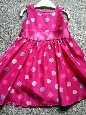 Baby  Girls Pink Party  Dress   Age 12/18 Mths