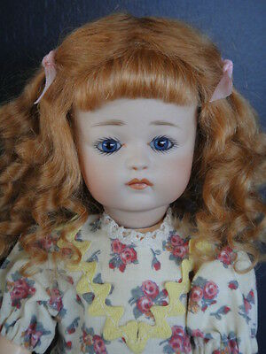"LOULOTTE®'s friend porcelain Doll ""LOUISA"" .Blue eyes BLEUETTE story- FRANCE"