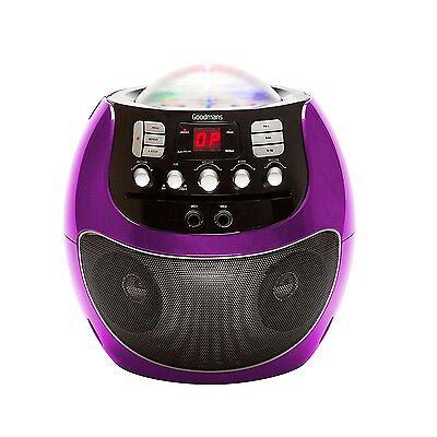 Goodmans XB13CDGPUR Disco Ball Karaoke Machine With LED Lights Purple Unit Only