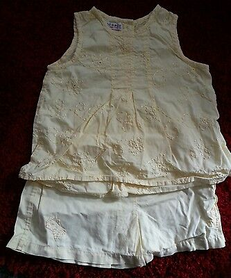 Vintage George   Baby  Girls  Lemon Top And Matching Shorts   Age 18/24 Mths