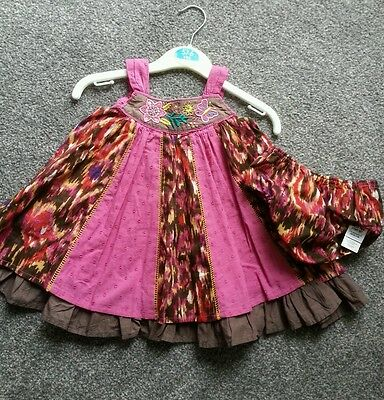 M&s Baby  Girls Print  Dress & Matching Knickers  Age 3/6 Mths