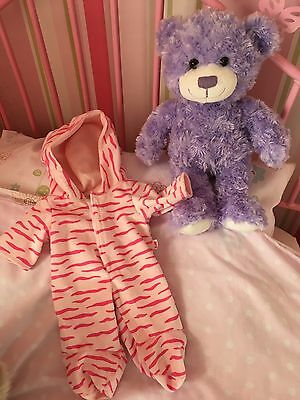 "DESIGN-A-BEAR LILAC BEAR WITH PLAYSUIT PJS 16"" Tall"