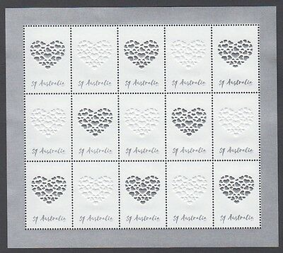 Australia 2017 Scarce Special Occasions – Love Embellished Minisheet (Jd5800)