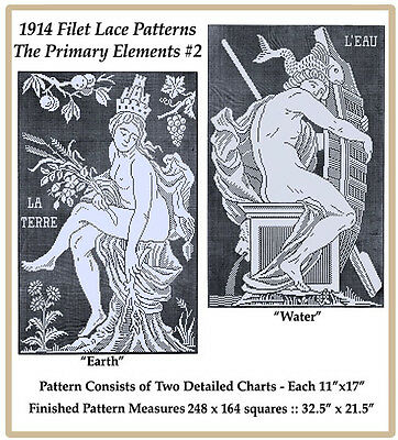 1914 Filet Lace Chart Pack - The Primary Elements #2
