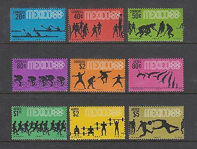 MEXICO #981-985, C328-C331 MNH Olympic Games, Mexico SET OF 9 Including Airmails