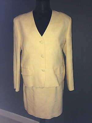 "Custom Made ""buttermilk"" Dupion Silk Mother Of The Bride Skirt Suit Sz 14-16"