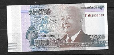CAMBODIA #63a 2013 UNC MINT  NEW 1000 RIELS  BANKNOTE PAPER MONEY BILL NOTE