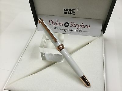 montblanc meisterstuck white solitaire red gold classique rollerball pen