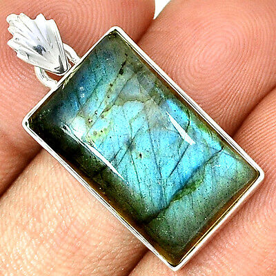 Peacock Labradorite 925 Sterling Silver Pendant  Jewelry PP36986