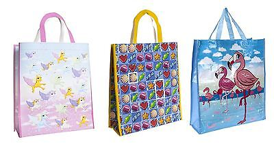 45cm Large Reusable Plastic Woven Shopping Bag Laundry Tote