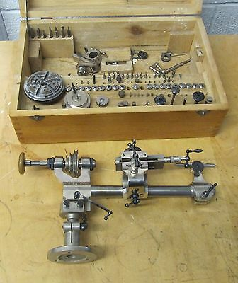 Boley Watchmaking Lathe And Accessories Collets Tool Rest Chuck + More 019