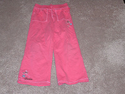 "GIRLS ALL ELASTIC WAIST ""BARBIE  coral PANTS SIZE  6 / 6X"