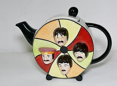"""Lorna Bailey """"The Beatles Story"""" Fab Four Teapot pristine condition. Signed."""