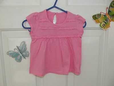 Baby Girl Pink Short Sleeve Top In Size 3- 6 Months