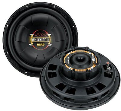 "2) New BOSS D12F 12"" 2000W Car Audio Shallow Mount Subwoofers Power Subs Woofers"