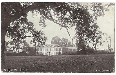 NORTHAW HOUSE Northaw Potters Bar, Old Postcard Postally Used 1911
