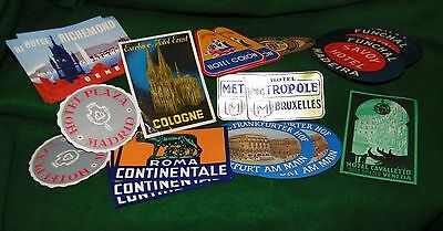 nice old lot of TRAVEL DECALS , LUGGAGE DECALS , HOTELS