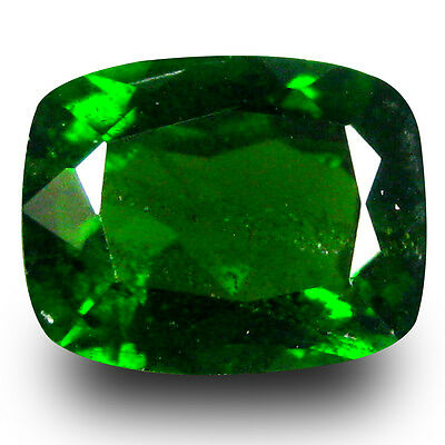 1.85 ct AAA+ Great looking Cushion Shape (8 x 6 mm) Green Chrome Diopside
