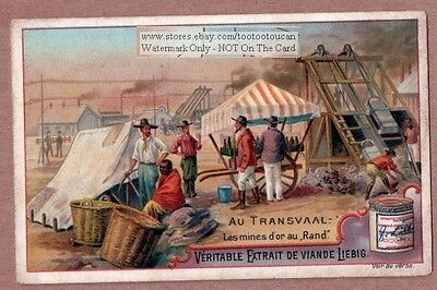 Pre Boer War Transvaal Gold Miners Miner Camp Africac1896 Trade Card