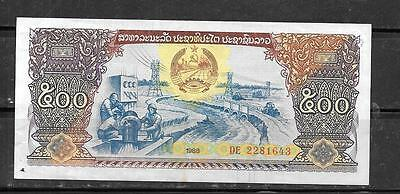 LAOS LAO #31a 1988 XF USED OLD 500 KIP LARGE BANKNOTE BILL NOTE CURRENCY