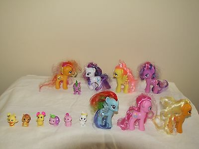 My Little Pony 7 G4 Unicorns And 1 With Wings With The Friends And Spike