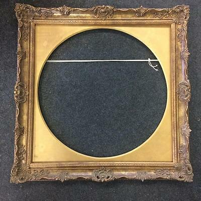"""Large Square Rococo Victorian STYLE Picture Frame Round Mount 30"""" Square"""