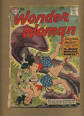 Wonder Woman 111 (INC) DC Comics 1960 Robot Silver Age Mermen (c#14625)