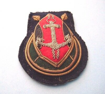 Vintage Kenya Navy Sergeants Bullion Wire Beret/cap Badge