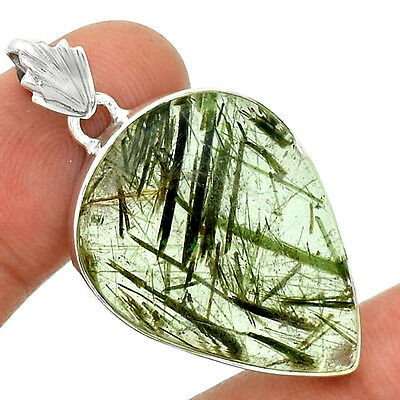 Apidolite In Quartz 925 Sterling Silver Pendant Jewelry PP41279