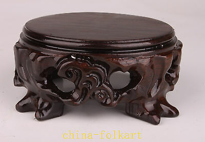 Exquisite Wood Carvings Vase Stand Base Furniture Decoration
