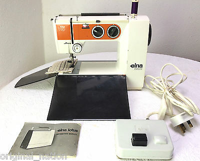 Elna Lotus t sp electric sewing machine Zig Zag. Foot control & Manual