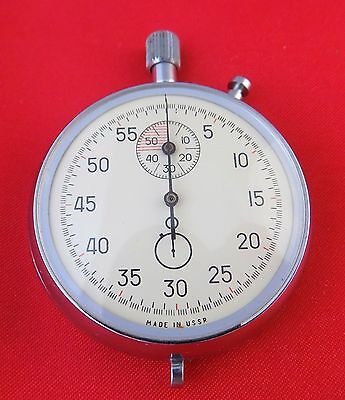 RAREST Mechanical Stop watch Agat Soviet USSR pocket vinage stopwatch Working