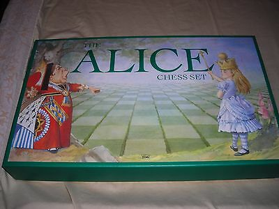 Vintage Alice in Wonderland Chess Set SAC The Traditional Games Company
