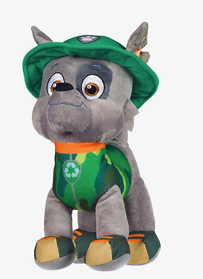 """New Official 12"""" Paw Patrol Jungle Rocky Pup Plush Soft Toy Nickelodeon Dogs"""