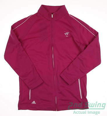 New W/ Logo Youth Adidas Full Zip Golf Sweatshirt X-Large XL Pink MSRP $59