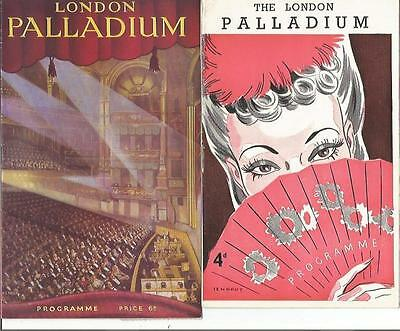 Collection Of 1940's Variety Programmes From The Palladium