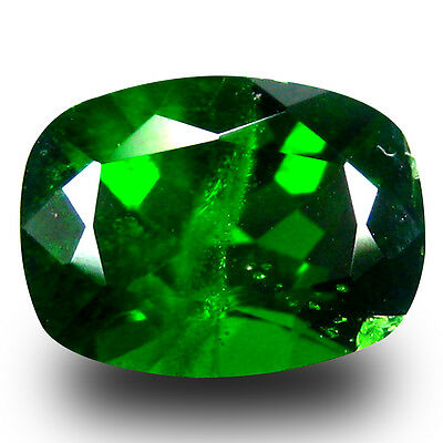 1.50 ct AAA+ Excellent Cushion Shape (8 x 6 mm) Green Chrome Diopside Gemstone