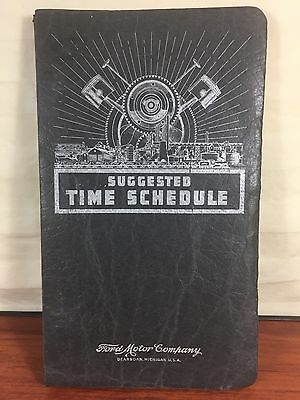 Vintage 1953 Ford Motor Co. Suggested Time Schedule Antique Automobile Book