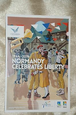 Colour Postcard 70th Anniversary Normandy Landings 2014 BRAND NEW