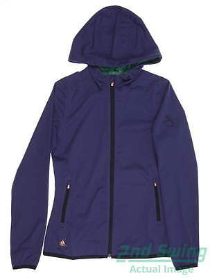 New W/ Logo Womens Adidas Golf Climastorm Jacket X-Small Purple MSRP $90 AE9396