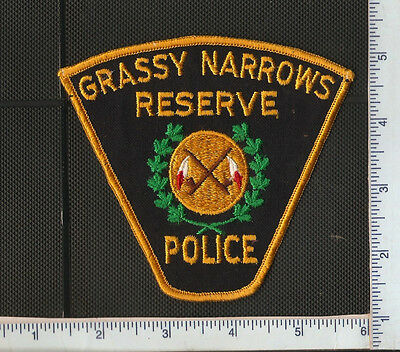 for auction,1 First Nations Police shoulder patch,GRASSY NARROWS POLICE,ONT