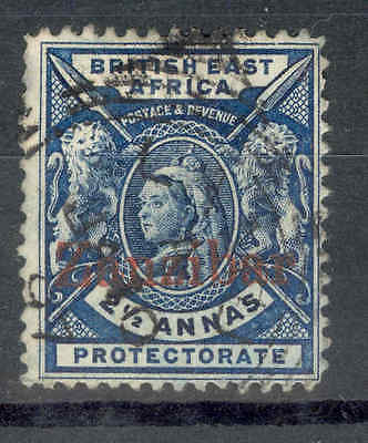ZANZIBAR 1896 Overprint on 2-1/2a.Fine circular cancel.SEE ITEM SPECIFICS BELOW