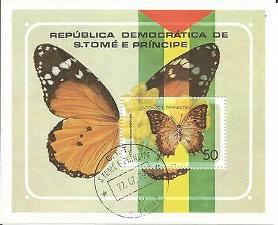 Sao Tome & Principe  1979 Butterflies / Butterfly Insect  CTO Miniature Sheet MS