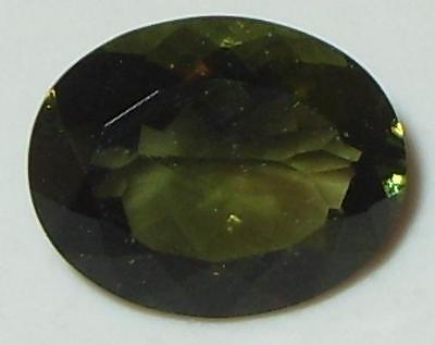 2.15ct Faceted TOP QUALITY Natural Czechoslovakia Moldavite Oval Cut 10x8mm