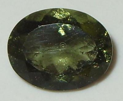 2ct Faceted TOP QUALITY Natural Czechoslovakia Moldavite Oval Cut 10x8mm