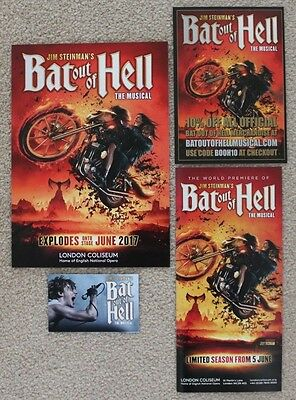 Bat Out Of Hell Jim Steinman Musical Meat Loaf London Coliseum 2017 Flyer / Card