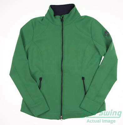 New W/ Logo Womens Zero Restriction Full Zip Golf Sweatshirt Medium M Green MSRP