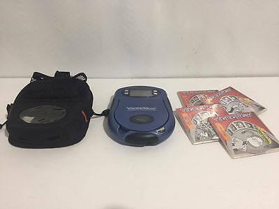 """Hasbro """"Video Now"""" Blue Personal Video Player w/ Video Discs & Carrying Case"""